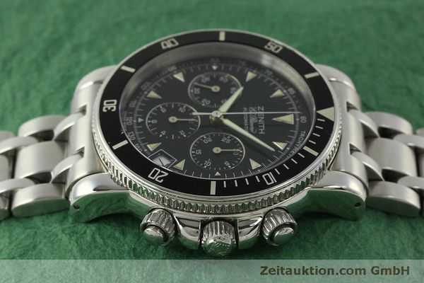 Used luxury watch Zenith Elprimero chronograph steel automatic Kal. 400 Ref. 02-0370-400  | 150959 05