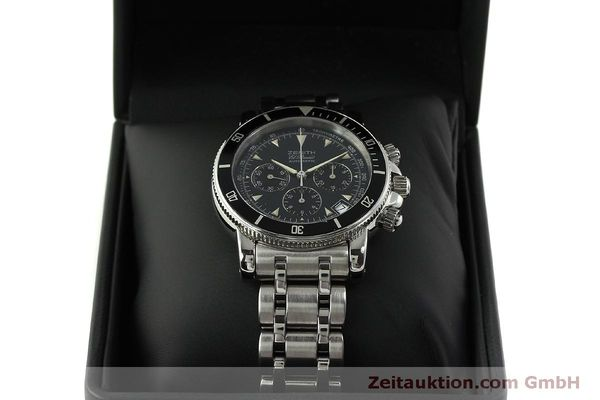 Used luxury watch Zenith Elprimero chronograph steel automatic Kal. 400 Ref. 02-0370-400  | 150959 07