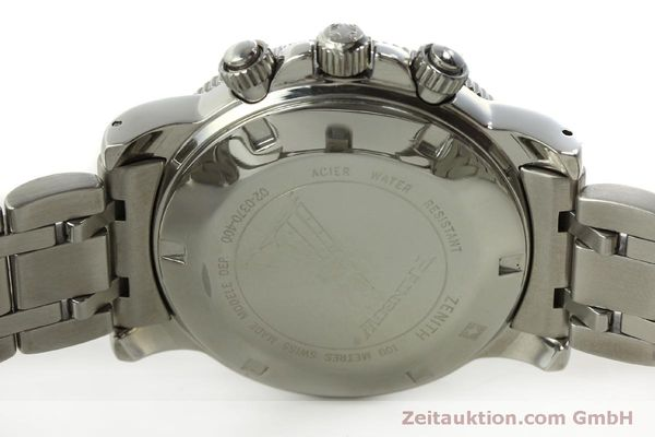 Used luxury watch Zenith Elprimero chronograph steel automatic Kal. 400 Ref. 02-0370-400  | 150959 09