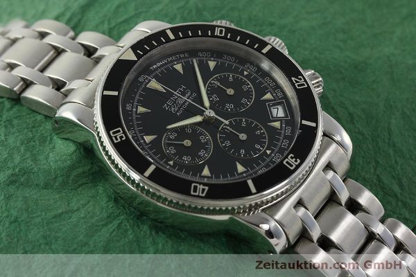 Used luxury watch Zenith Elprimero chronograph steel automatic Kal. 400 Ref. 02-0370-400  | 150959 13