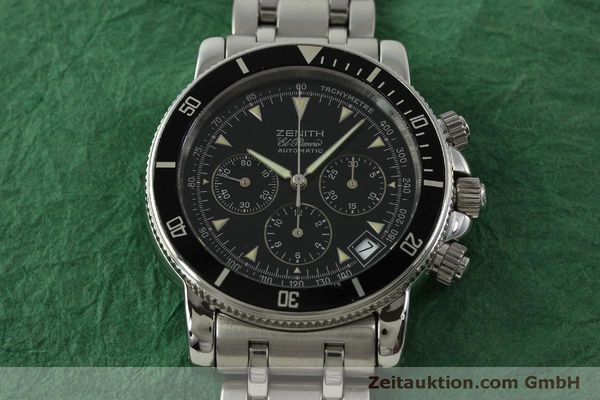 Used luxury watch Zenith Elprimero chronograph steel automatic Kal. 400 Ref. 02-0370-400  | 150959 14