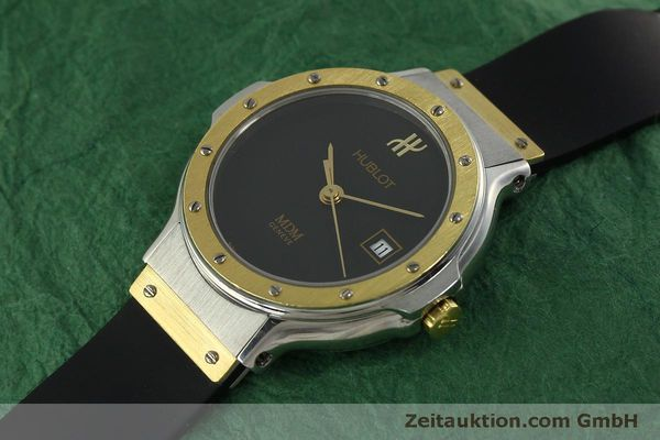 Used luxury watch Hublot MDM steel / gold quartz Kal. ETA 956.112 Ref. 1393.2  | 150980 01