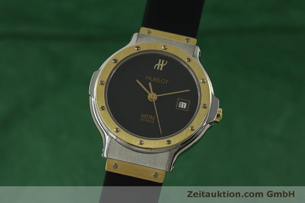 Used luxury watch Hublot MDM steel / gold quartz Kal. ETA 956.112 Ref. 1393.2  | 150980 04