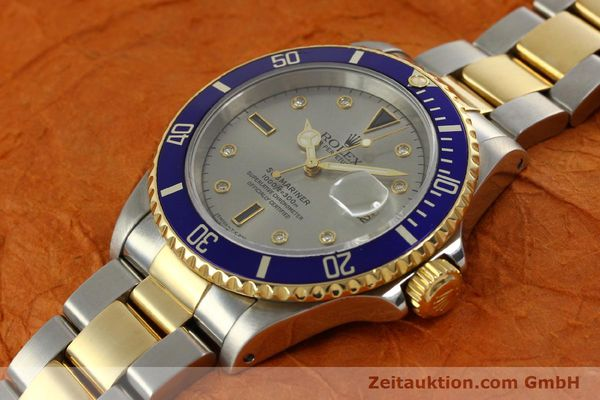 Used luxury watch Rolex Submariner steel / gold automatic Kal. 3135 Ref. 16613  | 150987 01