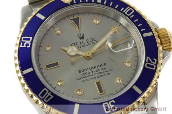 Used luxury watch Rolex Submariner steel / gold automatic Kal. 3135 Ref. 16613  | 150987 02