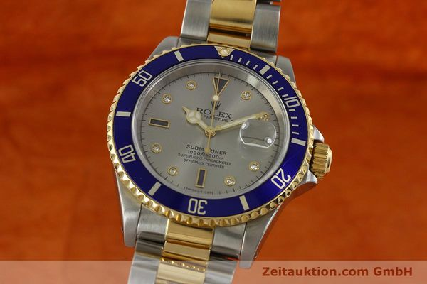 Used luxury watch Rolex Submariner steel / gold automatic Kal. 3135 Ref. 16613  | 150987 04