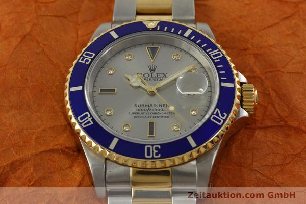Used luxury watch Rolex Submariner steel / gold automatic Kal. 3135 Ref. 16613  | 150987 16