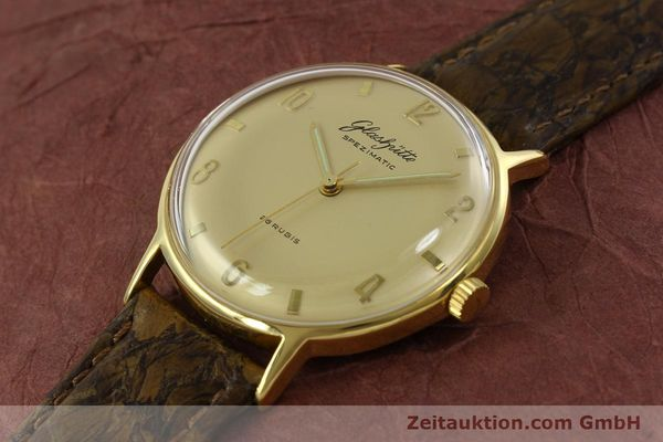 Used luxury watch Glashütte Spezimatic gold-plated automatic  | 151008 01