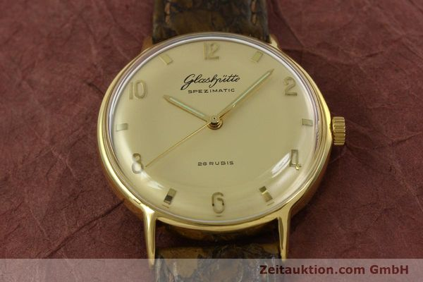 Used luxury watch Glashütte Spezimatic gold-plated automatic  | 151008 13
