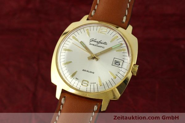 Used luxury watch Glashütte Spezimatic gold-plated automatic Kal. 75  | 151017 04