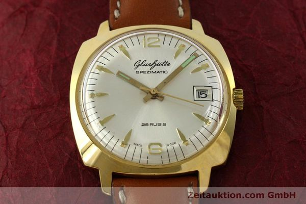Used luxury watch Glashütte Spezimatic gold-plated automatic Kal. 75  | 151017 13