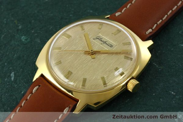 Used luxury watch Glashütte * gold-plated automatic Kal. 75  | 151018 01