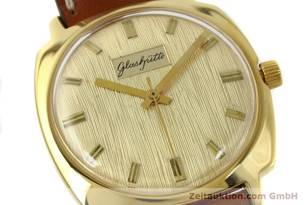Used luxury watch Glashütte * gold-plated automatic Kal. 75  | 151018 02