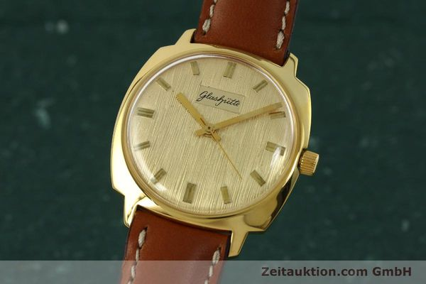 Used luxury watch Glashütte * gold-plated automatic Kal. 75  | 151018 04