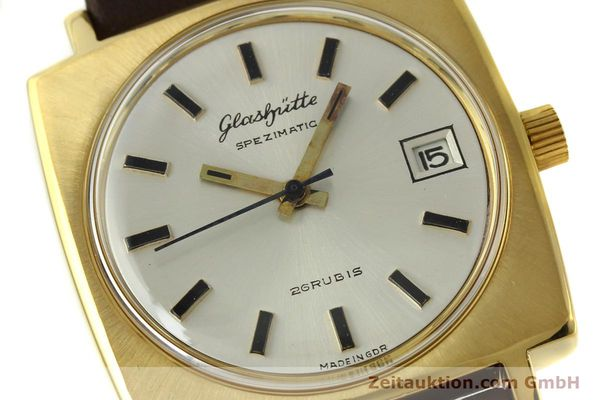 Used luxury watch Glashütte Spezimatic gold-plated automatic Kal. 75  | 151023 02