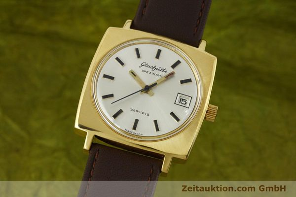 Used luxury watch Glashütte Spezimatic gold-plated automatic Kal. 75  | 151023 04