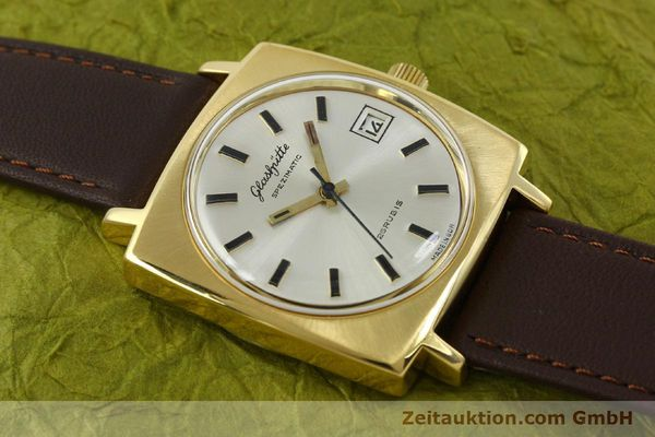 Used luxury watch Glashütte Spezimatic gold-plated automatic Kal. 75  | 151023 12