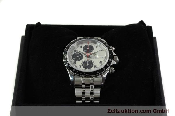Used luxury watch Tudor Prince Date chronograph steel automatic Kal. ETA 7750 Ref. 79260P  | 151029 07