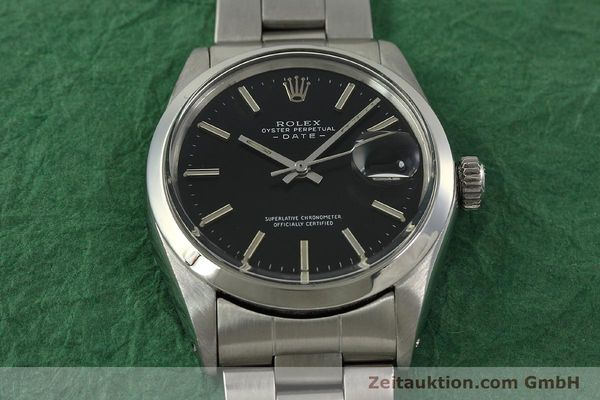 Used luxury watch Rolex Date steel automatic Kal. 1570 Ref. 1500 VINTAGE  | 151044 15