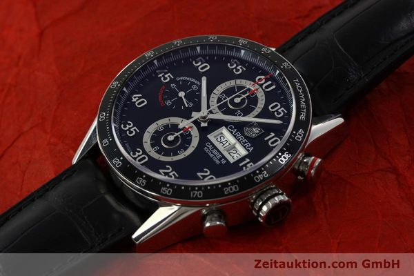 Used luxury watch Tag Heuer Carrera chronograph steel automatic Kal. 16 ETA 7750 Ref. CV2A10  | 151050 01
