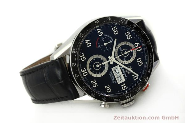 Used luxury watch Tag Heuer Carrera chronograph steel automatic Kal. 16 ETA 7750 Ref. CV2A10  | 151050 03