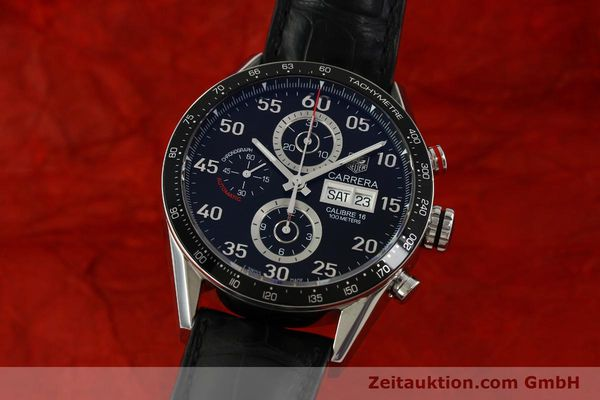 Used luxury watch Tag Heuer Carrera chronograph steel automatic Kal. 16 ETA 7750 Ref. CV2A10  | 151050 04