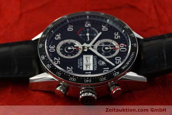 Used luxury watch Tag Heuer Carrera chronograph steel automatic Kal. 16 ETA 7750 Ref. CV2A10  | 151050 05
