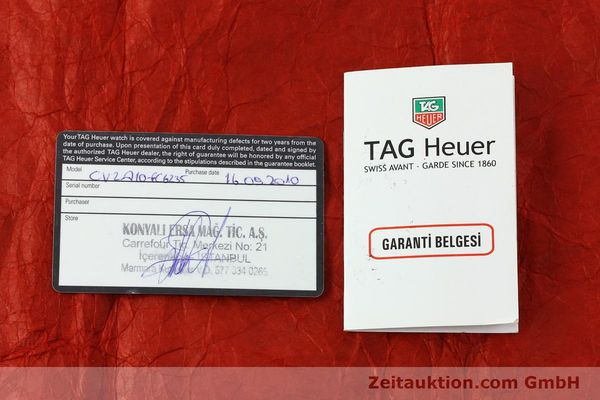 Used luxury watch Tag Heuer Carrera chronograph steel automatic Kal. 16 ETA 7750 Ref. CV2A10  | 151050 08