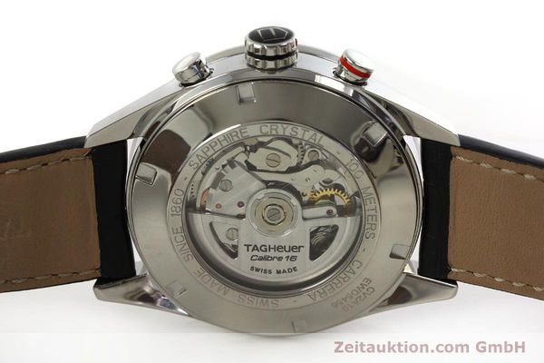 Used luxury watch Tag Heuer Carrera chronograph steel automatic Kal. 16 ETA 7750 Ref. CV2A10  | 151050 09