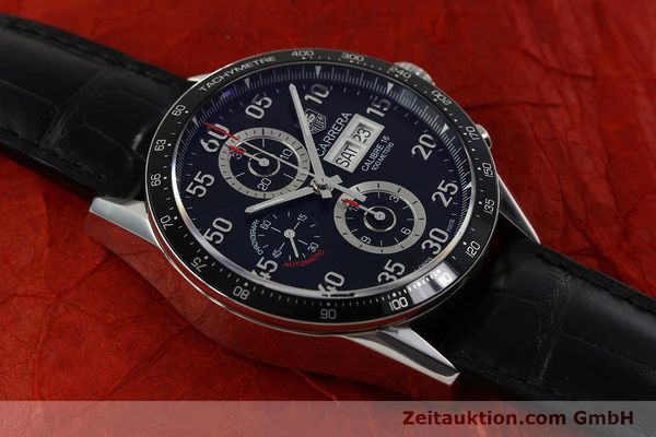 Used luxury watch Tag Heuer Carrera chronograph steel automatic Kal. 16 ETA 7750 Ref. CV2A10  | 151050 15