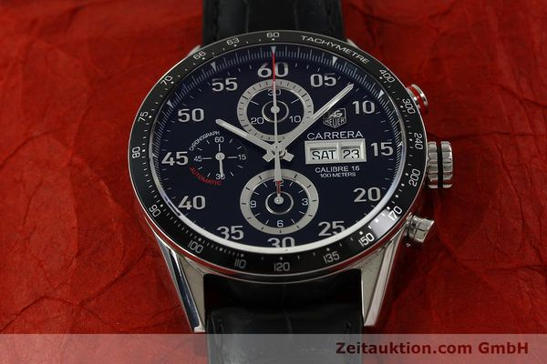 Used luxury watch Tag Heuer Carrera chronograph steel automatic Kal. 16 ETA 7750 Ref. CV2A10  | 151050 16