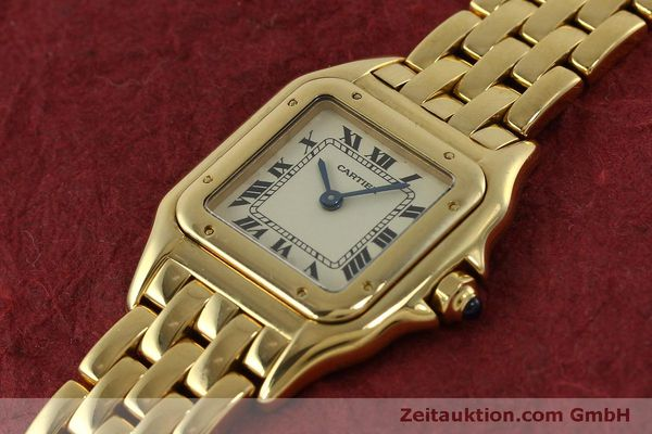 gebrauchte Luxusuhr Cartier Panthere 18k Gold Quarz Kal. 66  | 151056 01
