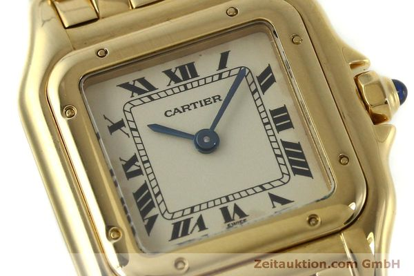 gebrauchte Luxusuhr Cartier Panthere 18k Gold Quarz Kal. 66  | 151056 02