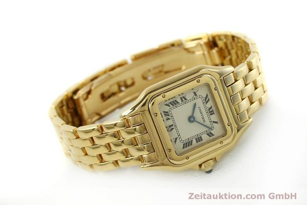 gebrauchte Luxusuhr Cartier Panthere 18k Gold Quarz Kal. 66  | 151056 03