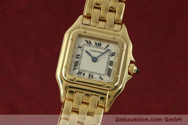 gebrauchte Luxusuhr Cartier Panthere 18k Gold Quarz Kal. 66  | 151056 04