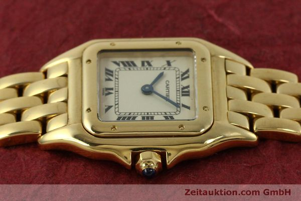 gebrauchte Luxusuhr Cartier Panthere 18k Gold Quarz Kal. 66  | 151056 05
