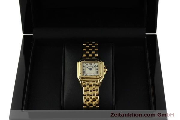 gebrauchte Luxusuhr Cartier Panthere 18k Gold Quarz Kal. 66  | 151056 07