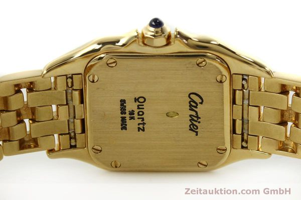 gebrauchte Luxusuhr Cartier Panthere 18k Gold Quarz Kal. 66  | 151056 09