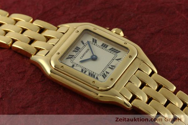 gebrauchte Luxusuhr Cartier Panthere 18k Gold Quarz Kal. 66  | 151056 13