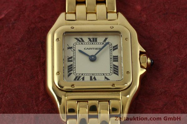 gebrauchte Luxusuhr Cartier Panthere 18k Gold Quarz Kal. 66  | 151056 14