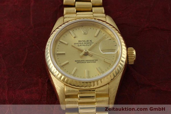 Used luxury watch Rolex Lady Datejust 18 ct gold automatic Kal. 2135 Ref. 69178  | 151057 17