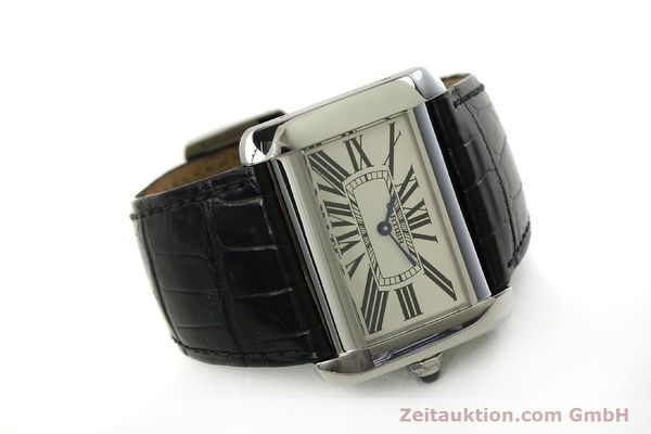 Used luxury watch Cartier Tank Divan steel quartz Kal. 690  | 151064 03