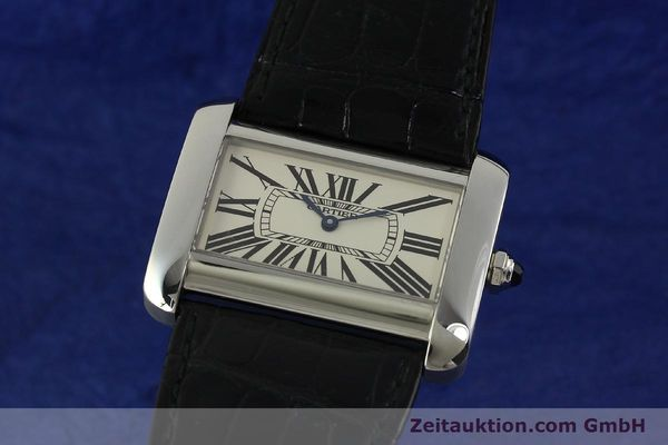 Used luxury watch Cartier Tank Divan steel quartz Kal. 690  | 151064 04
