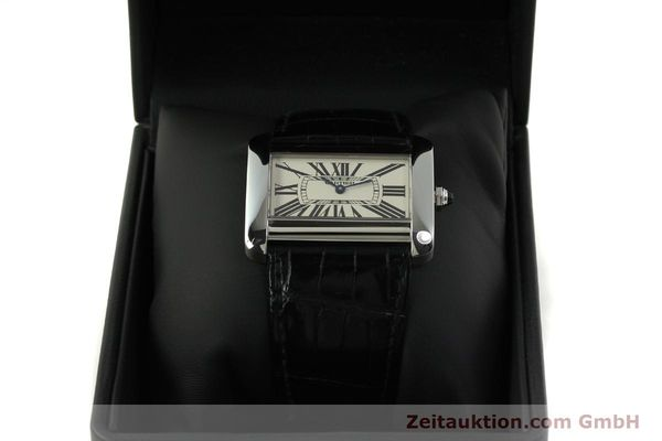 Used luxury watch Cartier Tank Divan steel quartz Kal. 690  | 151064 07