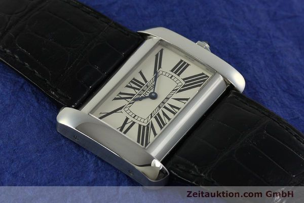 Used luxury watch Cartier Tank Divan steel quartz Kal. 690  | 151064 13
