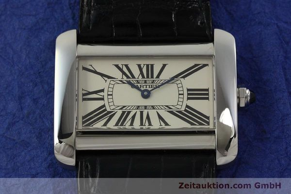 Used luxury watch Cartier Tank Divan steel quartz Kal. 690  | 151064 14