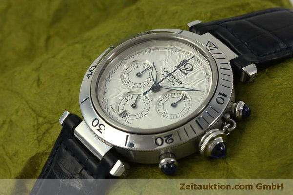 Used luxury watch Cartier Pasha chronograph steel automatic Kal. 205  | 151065 01