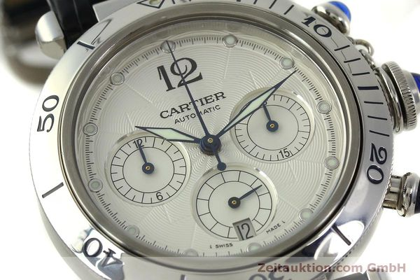 Used luxury watch Cartier Pasha chronograph steel automatic Kal. 205  | 151065 02
