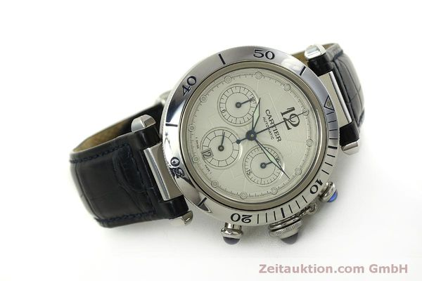 Used luxury watch Cartier Pasha chronograph steel automatic Kal. 205  | 151065 03