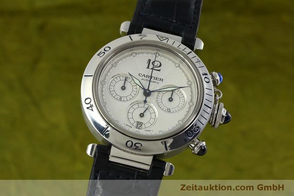 Used luxury watch Cartier Pasha chronograph steel automatic Kal. 205  | 151065 04